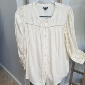 a.n.a - Long Sleeve Button Down Tunic - Small